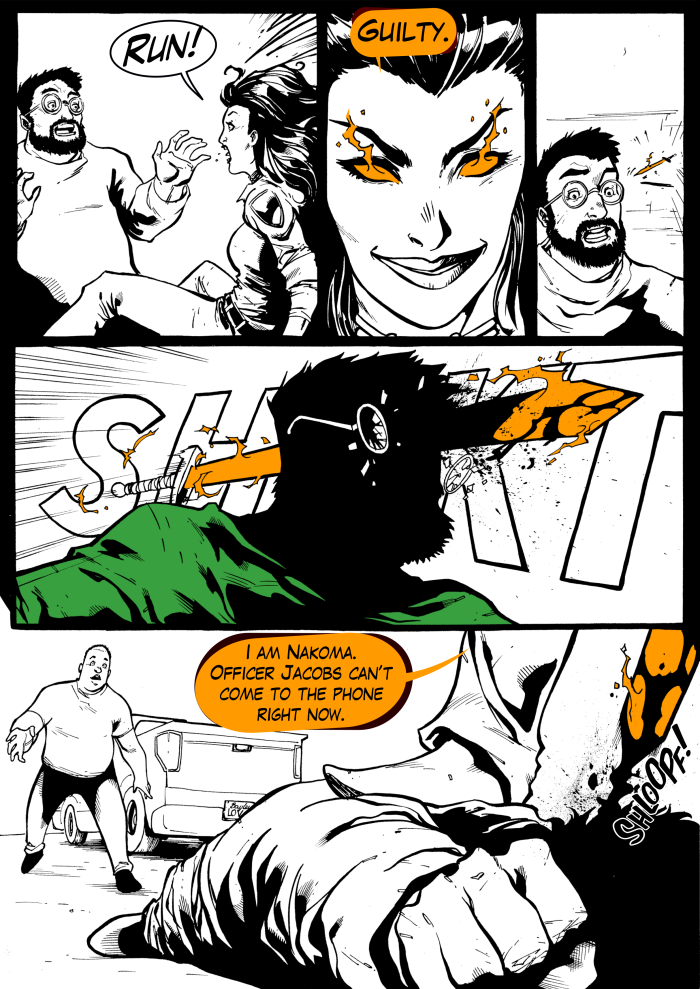 Vengeance, Nevada Issue #1, Page 4. Written by B.J. Mendelson. Art and letters by Piotr Czaplarski