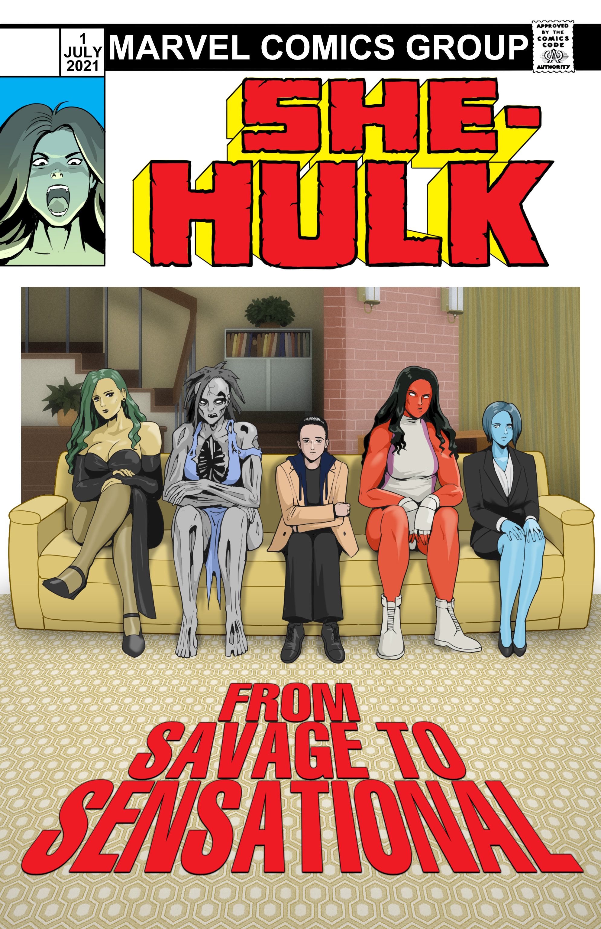 She-Hulk: From Savage to Sensational Issue #1 cover by Francis Trebuxet